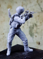 Crazy King1/35 Resin Soldier Model US Army Soldiers gk Hand White Mode Military Scene 238