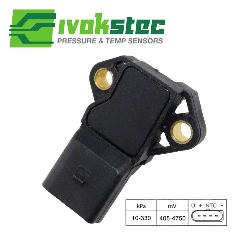 100% Test Intake Air Boost Pressure Map Sensor For Audi VW Seat Skoda 0281002401 038906051C 0 281 002 401 038 906 051 C 4 bar intake manifold boost pressure map sensor drucksensor for vw audi 03k906051 0281006059