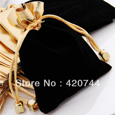 """100 шт./лот бархатный шнурок украшения Подарочная сумка 4.7x3."""" ho"""