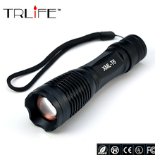 E17 LED CREE XM-L T6 Flashlight 5000 lumens Torch Adjustable Tactical Flashlight Lights Lighting  for AAA and 18650 battery