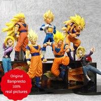 Original Banpresto Super saiyan dragon ball figure Son Gokou Vegeta Android No.18 SCultures Big 6 Collection toys for boys