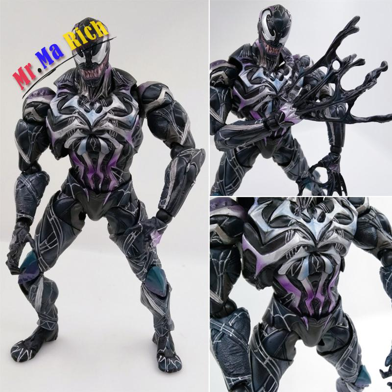 26cm Spiderman Venom Action Figure Pvc Anime Avenger Figure Toy Doll Model Gift Piay Arts militech fast aor2 bj high cut style vented airsoft tactical helmet ops core style base jump training helmet air soft helmet