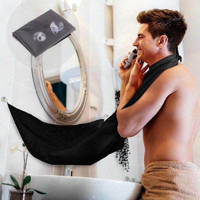 120x80 см человек фартук для ванной комнаты черная борода фартук волос передник для бритья для мужчин Водонепроницаемый цветочный Бытовая тряпка для уборки Protecter