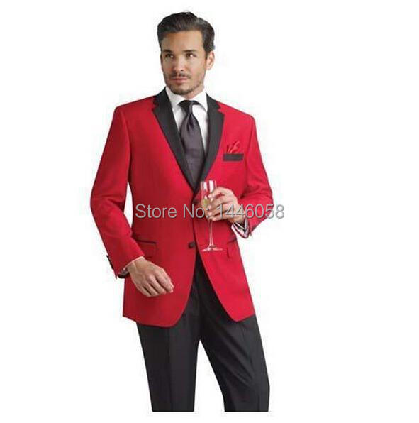 Veste Costume Rouge Homme : custom made rouge veste smokings de mari noir revers cran meilleur homme costumes de mariage ~ Melissatoandfro.com Idées de Décoration