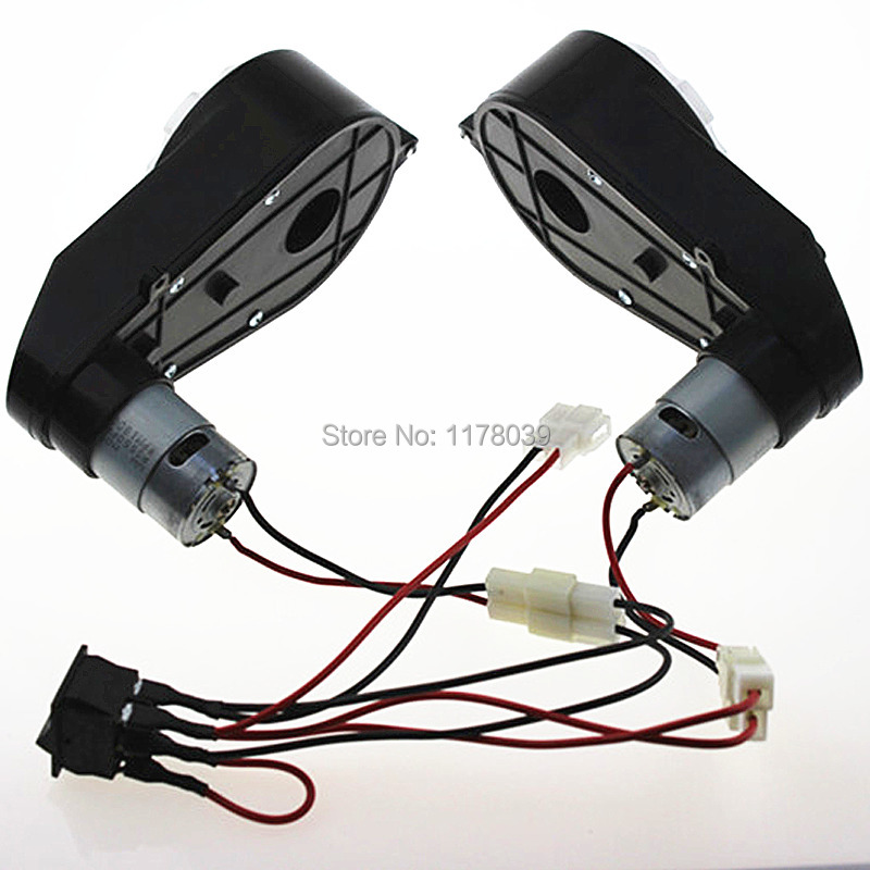 Children electric motor gear box DC12V RS550 Child electric motor gearbox DC motor gearbox Speed control
