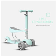 3 In 1 Kids Children Scooter Baby Walker Three-Wheeled Detachable Seat Adult Children Kick Scooter Foldable Baby Health Sports(China)