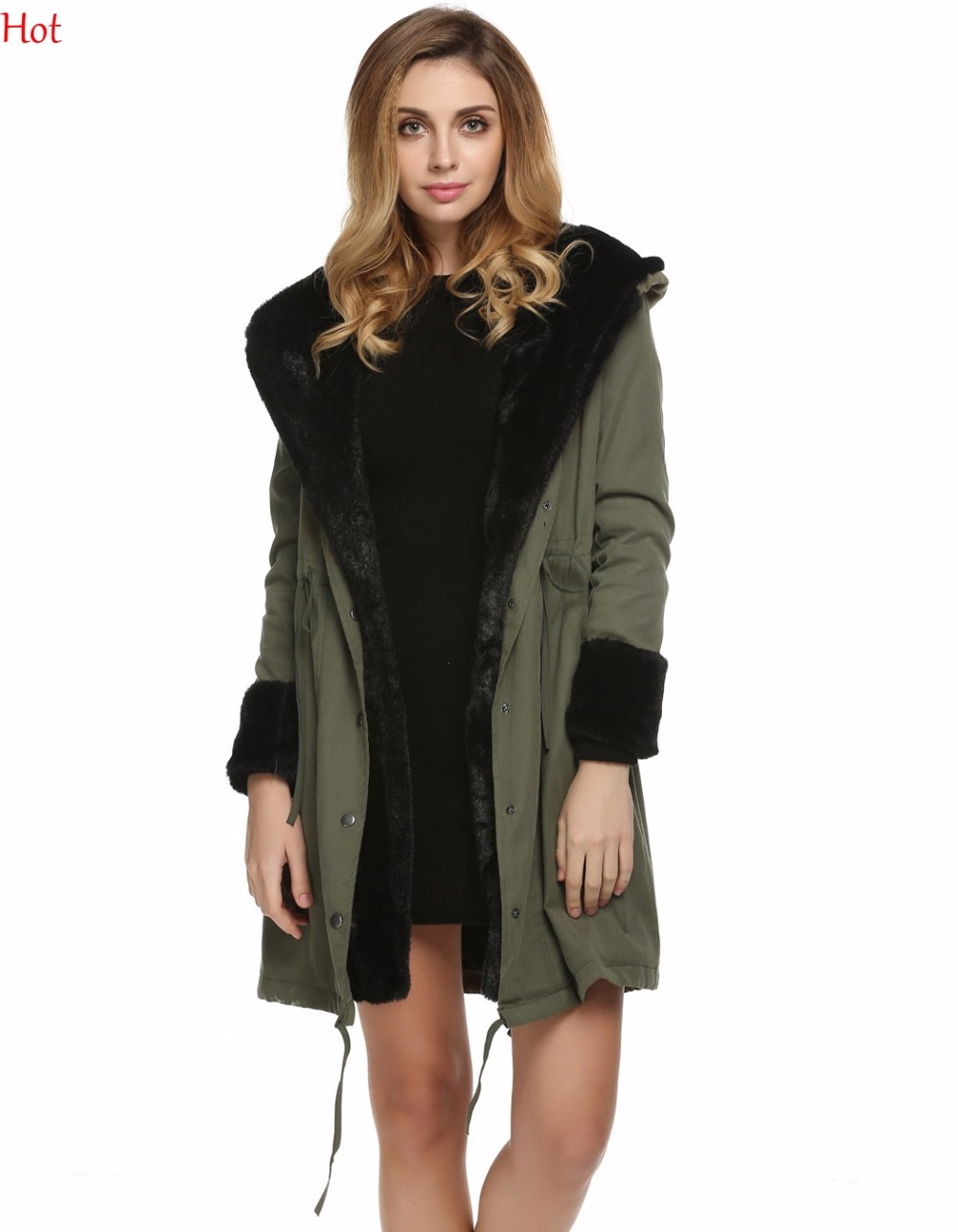 New Plus Size Fashion Women Faux Fur Coat Casual Hooded Parka Long Jacket Outwear Winter Clothing Warm Fur Hooded Coats SV028895 compatible for samsung ml 2850d 2851nd laser cartridge chip toner reset chip ml 2850