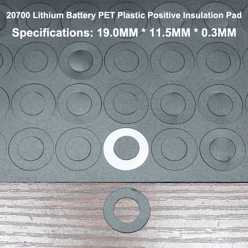 Купить с кэшбэком 100pcs/lot 20700 Lithium Battery High Temperature Insulation Gasket Hollow Flat Head Surface Meson 19*11.5*0.4mm