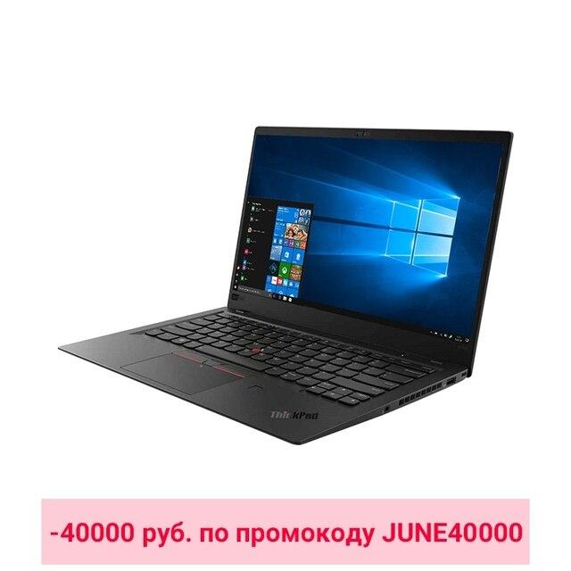 """Ноутбук Lenovo ThinkPad X1 Carbon 6 14""""/i5-8250U/8Гб/256Гб/noODD/Win10/Черный (20KH006DRT) -40000 руб. по промокоду JUNE40000"""