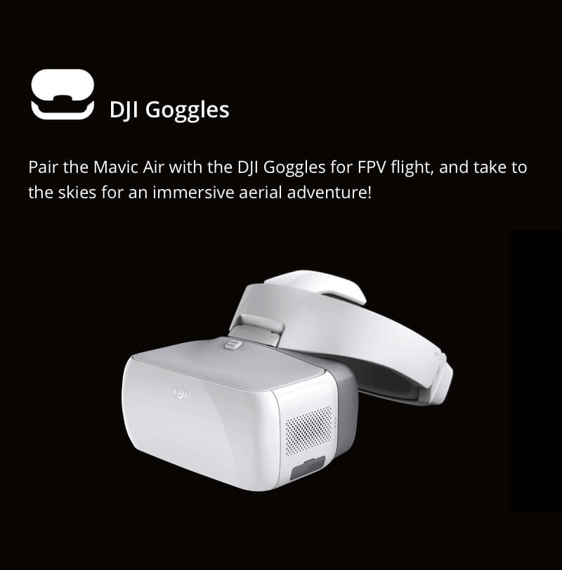 Pair the Mavic Air with DJI Goggles