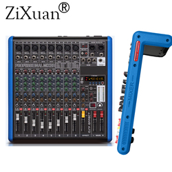 8 Channel Microphone Digital Sound Mixing Amplifier Console Professional Karaoke Audio Mixer With USB 48V Phantom Power