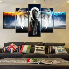 Home Decor Wall Art 5 Pieces Canvas Paintings Beautiful Angel Wings Posters HD Prints for Livings Rooms Unframed Decorate
