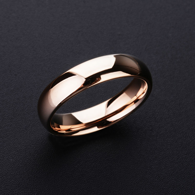 2018 New High Quality Rose Gold Tone Tungsten Wedding Rings 3.5mm/5mm Width Dome Band for Man and Woman Free Shipping