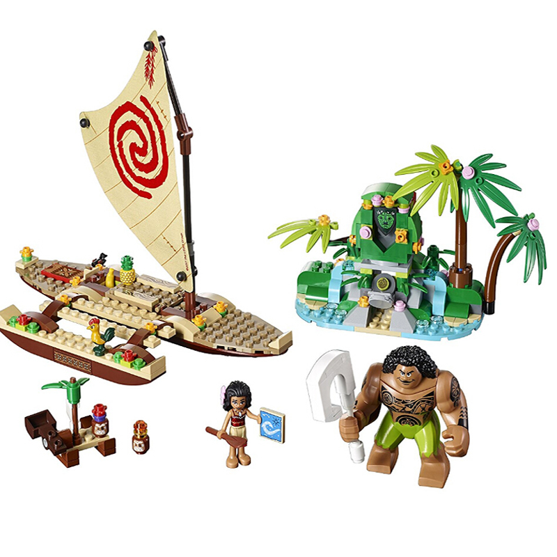 Princess Moana Ocean Voyage model Building kit Blocks Girls Friends Kids Model Toys Building Compatible with lego kid gift set lepin 02012 city deepwater exploration vessel 60095 building blocks policeman toys children compatible with lego gift kid sets