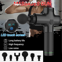LED Touch Screen Body Muscle Massage Gun Electric Vibrating Therapy Guns Deep Tissue Sport Machine Relax Massager