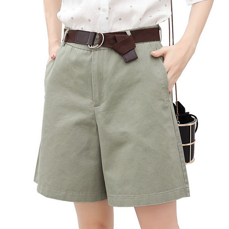 EXOTAO 2017 Summer Women   Shorts   Loose OL High Waist Pantalones Mujer Fashion Wide Leg   Short   Pants All-Match 5 Colors Cortos