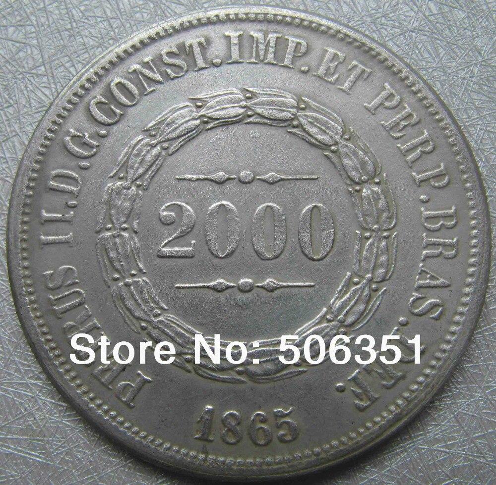 БРАЗИЛИЯ 2000 Reis 1865 монеты COPY БЕСПЛАТНАЯ ДОСТАВКА