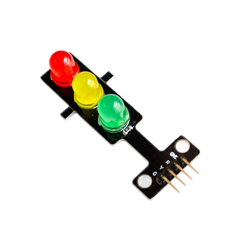 10pcs/lot LED Traffic Signal Lamp Module 5V Red And Green Light Emitting Module For Arduino