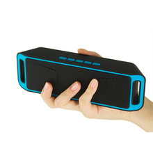 Wireless Speaker Bluetooth 4.0 Caixa De Som Stereo Subwoofer Speakers TF USB FM Radio Built-in Mic Dual Bass Sound Box