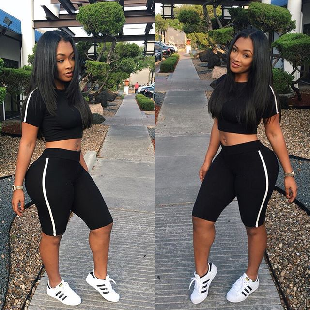 Sexy Two Pieces Set Jumpsuit Rompers 2017 Summer Style Short Jumpsuit Slim Short Sleeve Playsuit Black