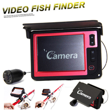 15M 800TVL Fish Finder 3.5″ LCD Monitor Underwater Ice Fishing Camera LED Infrared Lamp for Night Fishing with 4000mah Battery