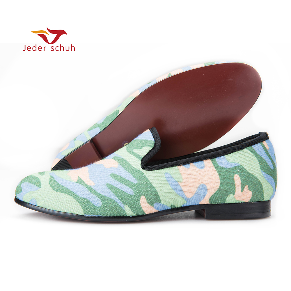Handmade men army green and black camouflage loafers Man military style Plus size casual shoes fashion party smoking slippers men casual shoes green velvet loafers prince albert slippers handmade embroidered footwear