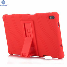 Soft Case For Lenovo TAB4 8 Plus 8.0 inch Silicone Stand Case For Lenovo TAB 4 8 Plus TB-8704F TB-8704N Tablet Case цена и фото