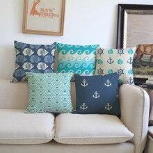 Ocean waves sea surge geometric pattern Pillowcase comfortable Cushion Cover Car chair sofa office club Home Decoration for gift