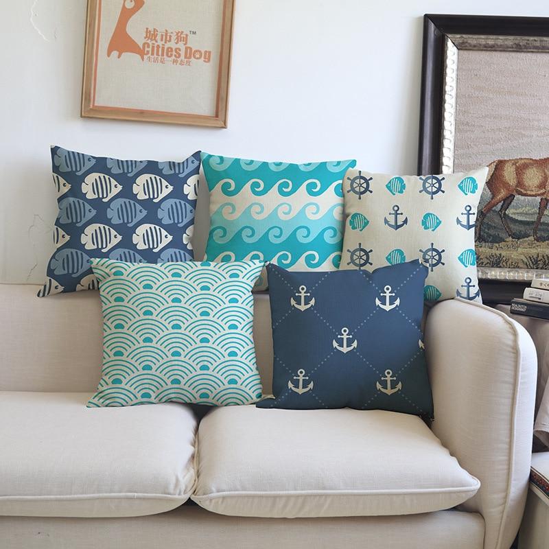 Океански вълни морски вълна - Домашен текстил - Снимка 1