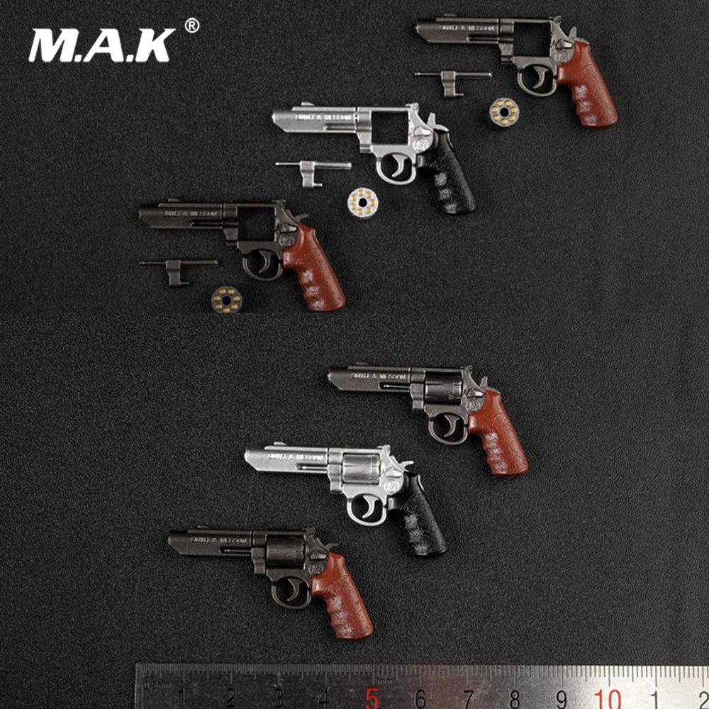 AS041 6 Styles 1:6 Solider Figure Scene Accessories M&P Revolver Gun Weapon Model For 12 Inches Solider Action Figure