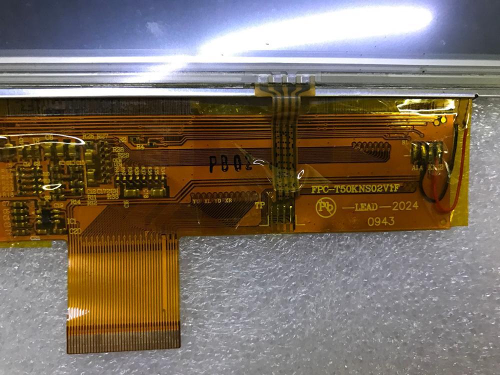 5 inches LCD screen original model: FPC-T50KNS02V1F