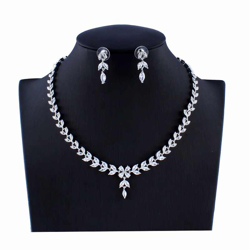 jiayijiaduo Indian Women's Red Crystal Wedding Jewelry Set Bridal Necklace Earrings Set Gift dropshipping new