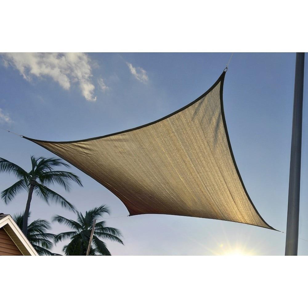 ShelterLogic 25723 16 ft. - 4 9 m Square Shade Sail - Sand 230 gsm тент shelterlogic gardendreams 80240