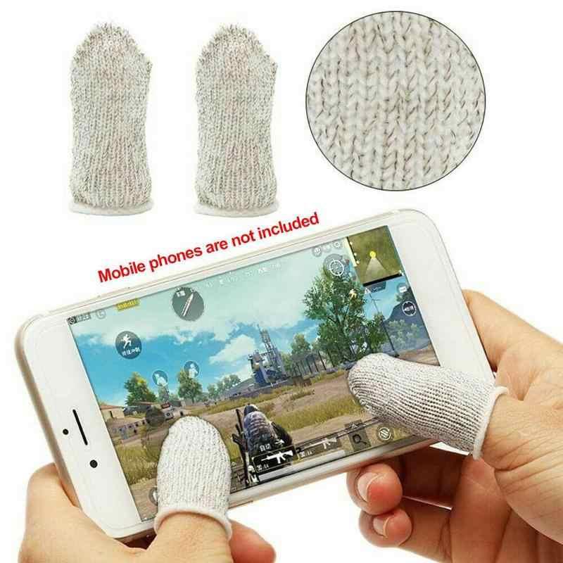 1 пара мобильных пальцев PUBG без пота дышащий игровой контроллер ультра-тонкий сенсорный экран игровой набор пальцев