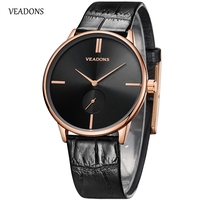 Top Brand Man Watch 2017 Roles Mens Watches Male Ultra Thin Quartz Clock Military Wristwatch Leather
