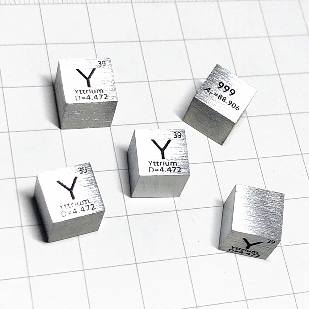 Metal Yttrium Cube Rare Earth for Element Collection Science Experiment High Puirty 99.9% 3N 10x10x10mm Y Cube for Research Metal Yttrium Cube Rare Earth for Element Collection Science Experiment High Puirty 99.9% 3N 10x10x10mm Y Cube for Research