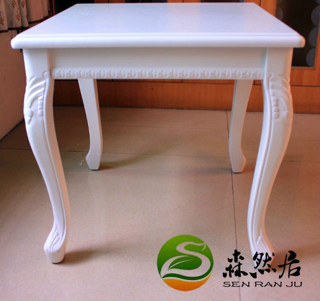 Coffee table, classical fashion, European style, solid wood coffee table