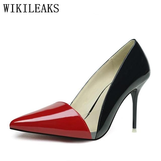 d0bbc72cdab2c Projektant luksusowe marki przezroczyste obcasy buty kobieta lakierki  kobiety wysoki obcas buty ślubne buty sexy red