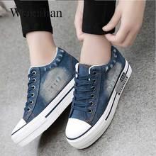 Kobiet Sneakers buty w stylu casual lato płócienne buty jeansowe damskie trenerzy damskie Tenis Feminino 2019 Zapatos De Mujer