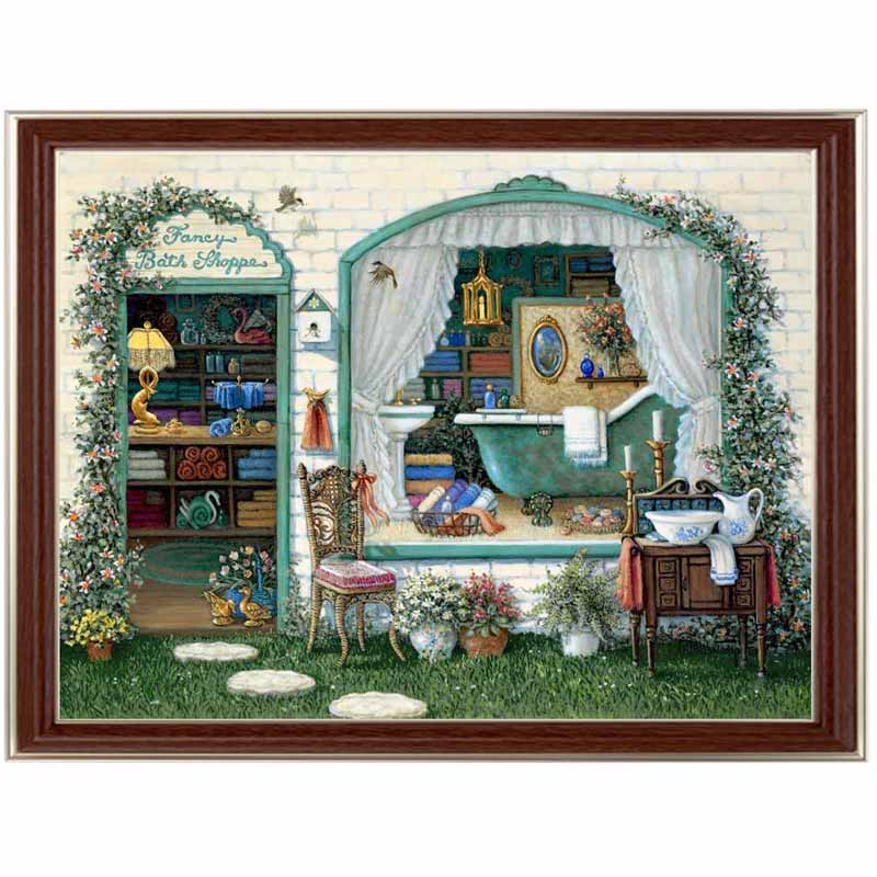 Golden panno Needlework Embroidery DIY Landscape Painting Cross stitch kits 14ct Fancy Bath ShopCross stitch Sets