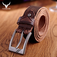 2016 New Waist Band Vintage Men Belt Real Leather Pin Buckle Mens Belts Luxury Brand Designe