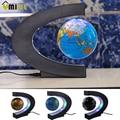 Moda Decoração Da Casa LEVOU Luz Globo de Levitação Magnética Mapa Do Mundo Flutuante Globo Tellurion Forma Presente de Aniversário Xmas EUA Plug UE