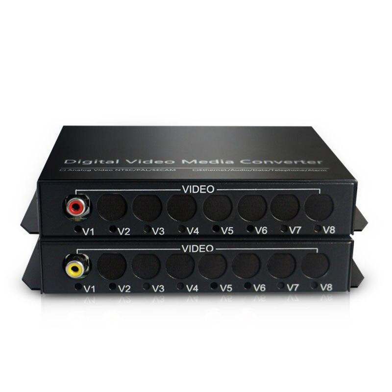 Audio Broadcast Fiber Transceiver 1 Channel Audio RCA To Fiber Optic Converter For Audio Intercom Broadcast System FC SM 20km