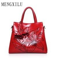 MENGXILU New PU Leather Women Bag Female Shoulder Bags 2017 New Vintage Designer Handbags High Quality