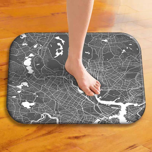 Earth Map Texture Line Pattern Home Decorative Doormats Soft Lightness  Indoor Outdoor Bathroom Door Mats Floor
