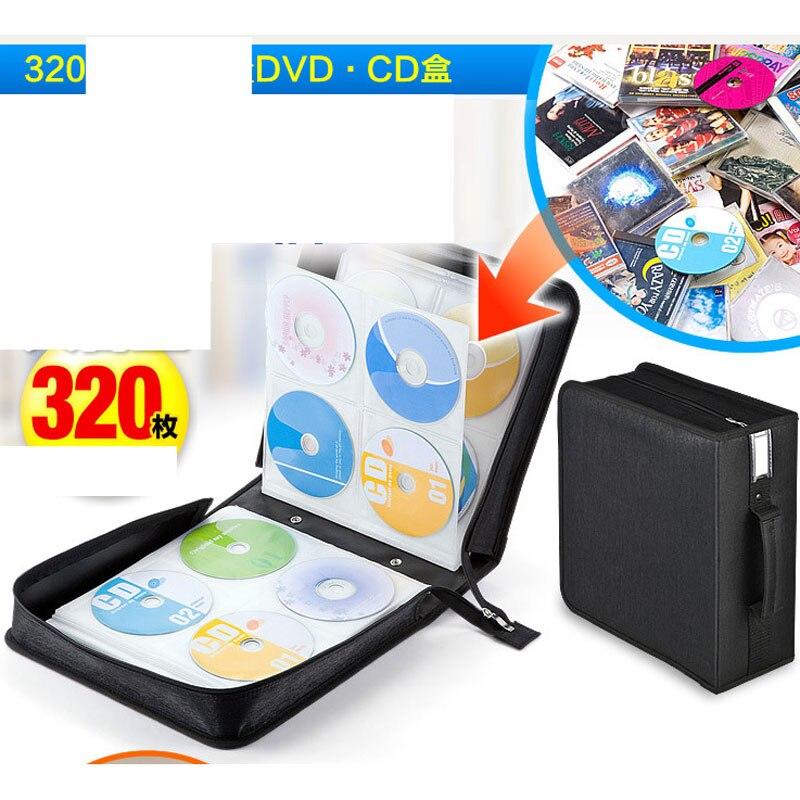 Ymjywl CD Case nouveau haute qualité CD sac 320 disque capacité CD boîte pour la maison facile à stocker CD Case