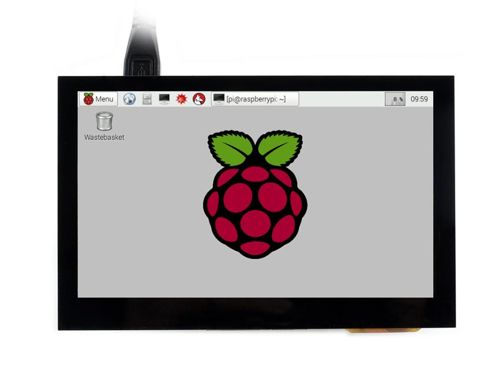 Waveshare 4.3inch, 800x480, Capacitive Touch Screen LCD Tablet, HDMI Interface, Supports  Raspberry Pi, BB Black,Multi Systems