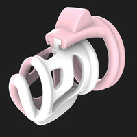 2color Series B Chastity Locks Contrast Color Vent Hole Design Male Chastity Device Cock Ring Penis Ring Virtue lock