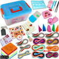The Most Complete Quilling paper set color paper drawing material package beginners tool Board with Storage Box Suitcase