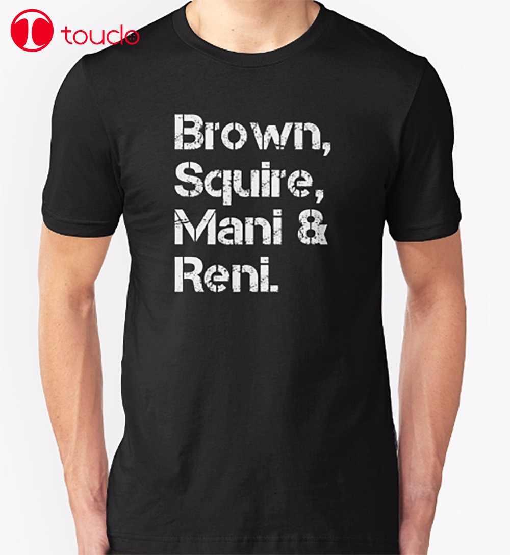 2019 Nieuwe Zelfontplooiing T-Shirt Bruin Mani En Ronnie T-Shirt Stone Rose Band Muziek Band Manchester Tee Shirt Trui